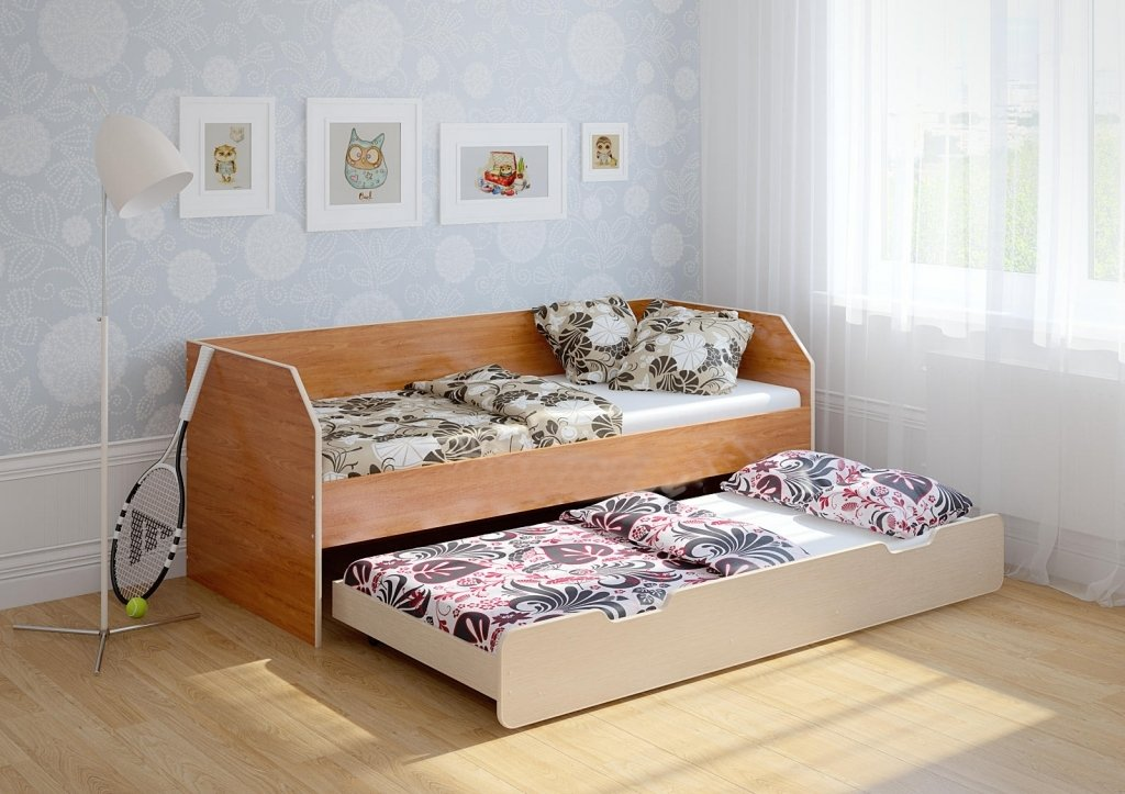Схема выкатной кровати в детсад