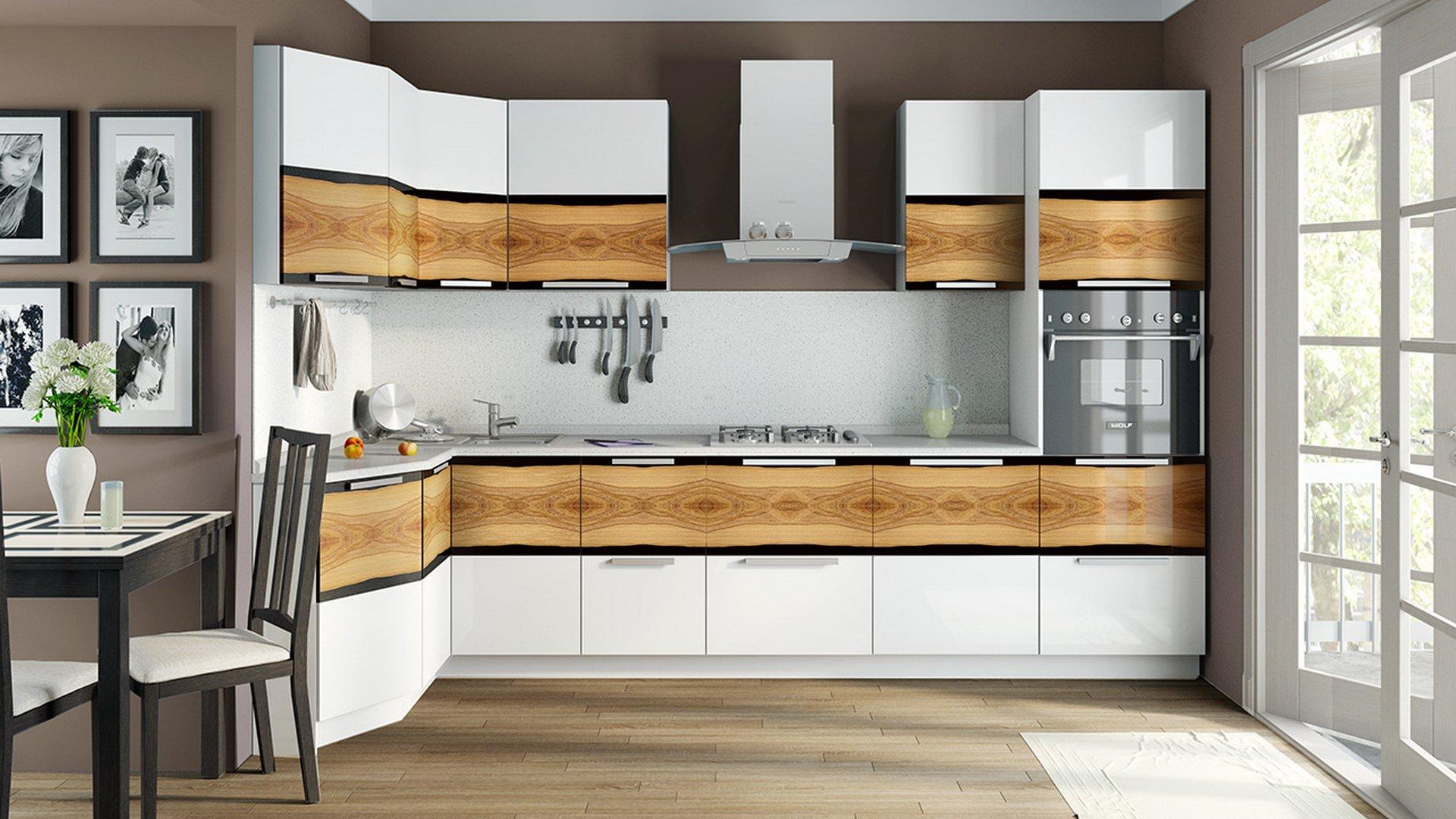 Кухонный гарнитур для маленькой большой кухни расстановка размеры шкафов