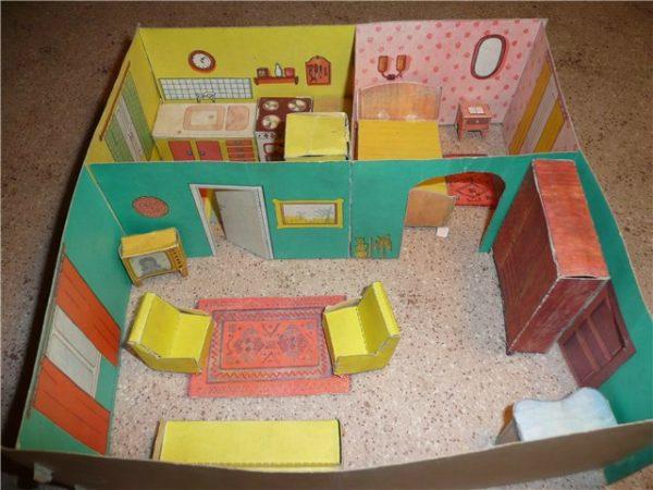Трафареты мебели для кукол