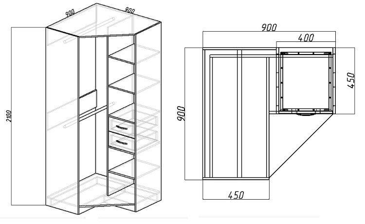 Как сделать угловой шкаф своими руками: чертежи и инструкции