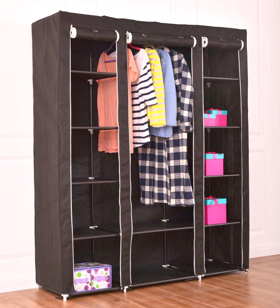 Тканевый шкаф для одежды 43 фото складные модели из ткани для хранения вещей в стиле ретро на каркасе